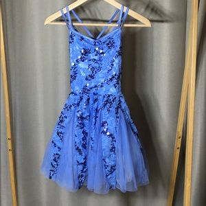 Periwinkle blue fairy princess leotard